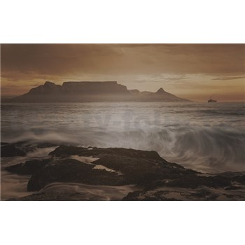 Luxusní vliesové fototapety Cape Town - sépie, rozměr 418,5 cm x 270 cm