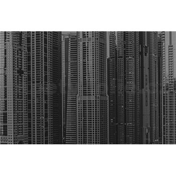 Luxusní vliesové fototapety Dubai - černobílé, rozměr 418,5 cm x 270 cm