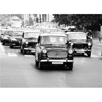 Luxusní vliesové fototapety Mumbai - černobílé, rozměr 372 cm x 270 cm