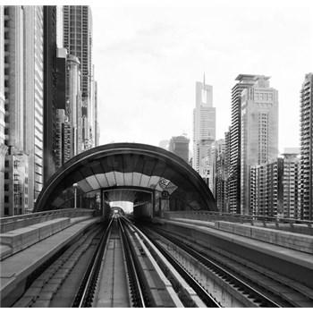 Luxusní vliesové fototapety Dubai - černobílé, rozměr 279 cm x 270 cm