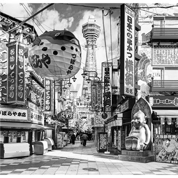 Luxusní vliesové fototapety Yokohama - černobílé, rozměr 279 cm x 270 cm