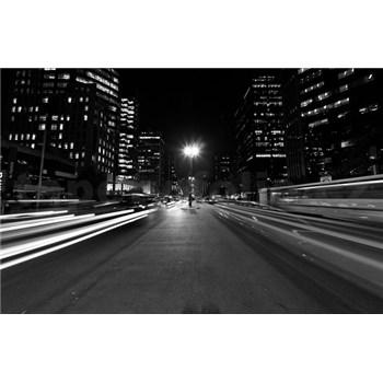 Luxusní vliesové fototapety Sao Paulo - černobílé, rozměr 418,5 cm x 270 cm