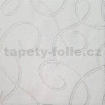 Vliesové tapety na zeď Collection 2 stříbrné vlnky s šedými konturami na krémovém podkladu