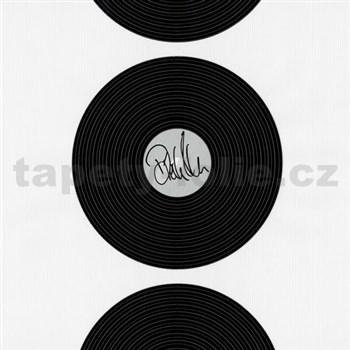 Vliesové tapety na zeď Dieter Bohlen - vinylová deska černá