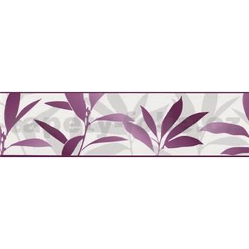 Bordura Dieter Bohlen - listí fialové 13,3 cm x 5 m