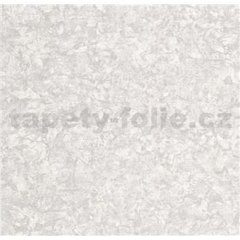 Vliesové tapety na zeď Einfach Schoner 3 strukturovaná omítkovina šedá se stříbrnými odlesky