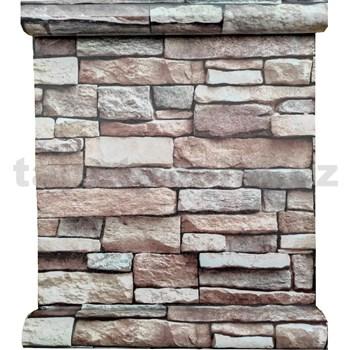 Samolepící fólie ukládané kameny hnědé 45 cm x 10 m