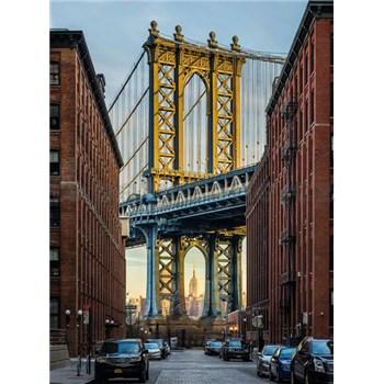 Vliesové fototapety Brooklyn Manhattan Bridge rozměr 184 cm x 248 cm