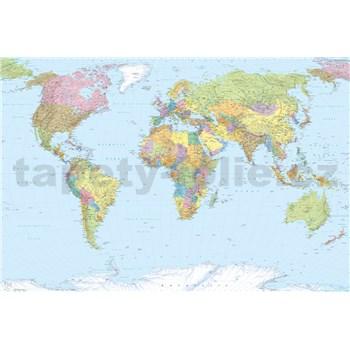 Vliesové fototapety mapa světa 368 cm x 248 cm