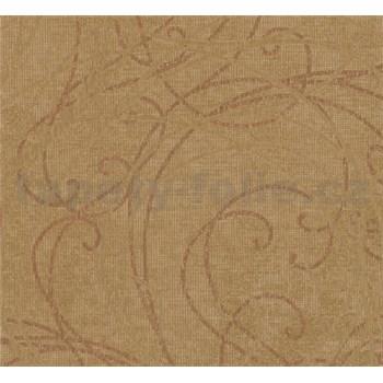 Luxusní vliesové tapety na zeď Merino ornamenty na metalickém zlatém podkladu