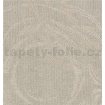 Luxusní vliesové tapety na zeď Merino moderní metalické kruhy šedé