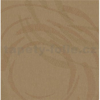 Luxusní vliesové tapety na zeď Merino moderní metalické kruhy zlaté