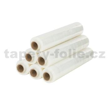 Stretch fixační folie TRANSPARENT, čirá strečová fólie, šířka 50 cm, 2,2kg, 23my