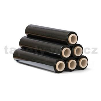 Stretch fixační folie BLACK, černástrečová fólie,šířka 50 cm, 2,2kg, 23my
