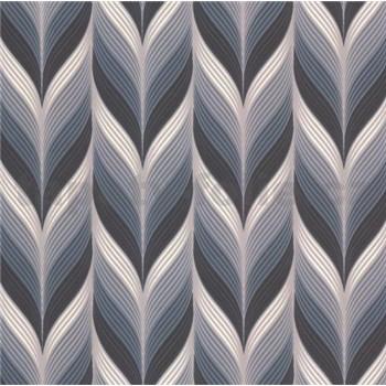 Vliesové tapety na zeď Einfach Schoner 3 retro vzor černo, šedo, bílý-AKCE