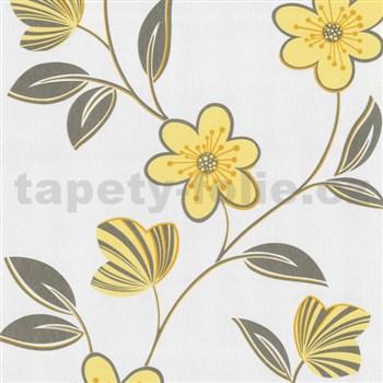 Vliesové tapety na zeď Open Air - květy žluté