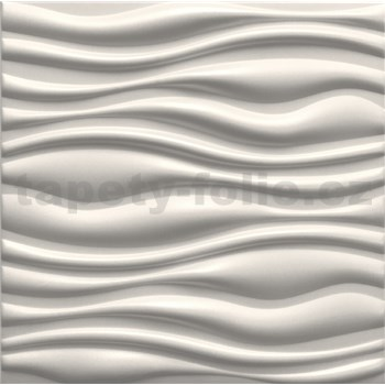 3D panel XPS FLOW bílý rozměr 50 x 50 cm