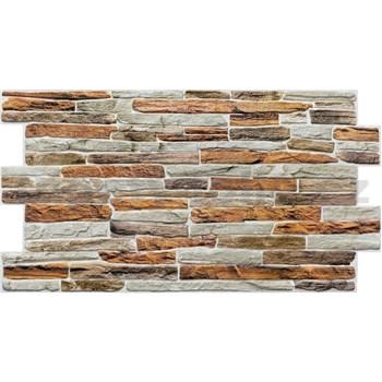 Obkladové 3D PVC panely rozměr 980 x 480 mm kámen hnědo-šedý