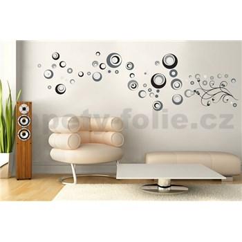 Samolepky na zeď abstraktní kolečka