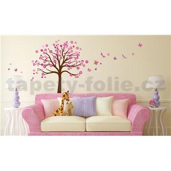 Samolepky na zeď strom růžový