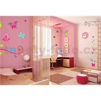 Samolepky na zeď motýli se třpytkami