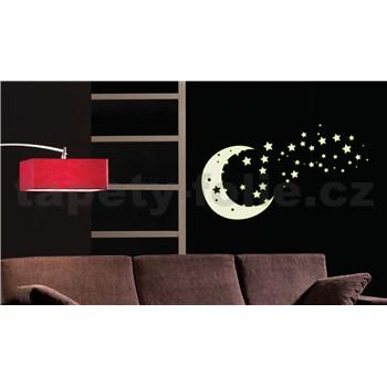 Samolepky na zeď měsíc a hvězdy - ve tmě svítí