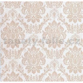 Vliesové tapety na zeď Seasons zámecký vzor krémový na béžovém podkladu