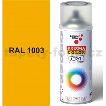 Sprej žlutý lesklý 400ml, odstín RAL 1003 barva signální žlutá lesklá