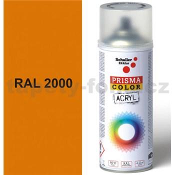 Sprej oranžový lesklý 400ml, odstín RAL 2000 barva žluto oranžová lesklá