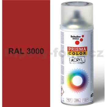 Sprej červený lesklý 400ml, odstín RAL 3000 barva ohnivě červená lesklá