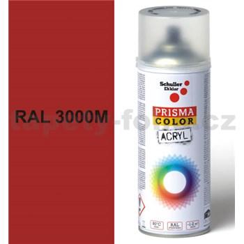 Sprej červený matný 400ml, odstín RAL 3000M barva červená matná