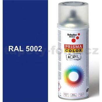 Sprej modrý lesklý 400ml, odstín RAL 5002 barva ultramarínově modrá lesklá