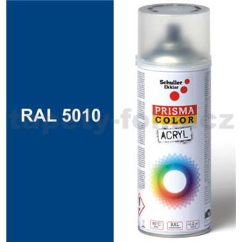 Sprej modrý lesklý 400ml, odstín RAL 5010 barva enciánová modrá lesklá
