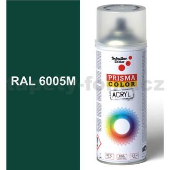 Sprej zelený matný 400ml, odstín RAL 6005M barva mechově zelená matná