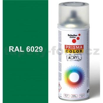 Sprej zelený lesklý 400ml, odstín RAL 6029 barva mátově zelená lesklá