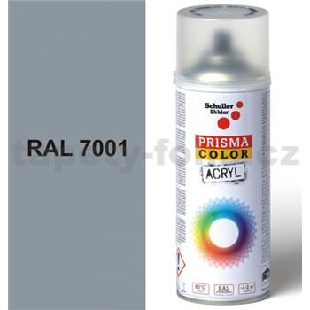 Sprej šedý lesklý 400ml, odstín RAL 7001 barva stříbrně šedá lesklá