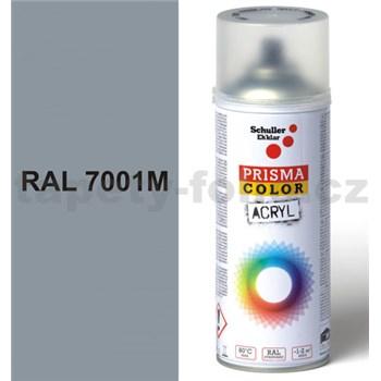 Sprej šedý matný 400ml, odstín RAL 7001M barva stříbrně šedá matná