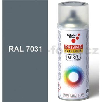 Sprej šedý lesklý 400ml, odstín RAL 7031 barva modro-šedá lesklá