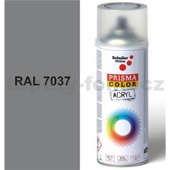 Sprej šedý lesklý 400ml, odstín RAL 7037 barva prachově šedá lesklá