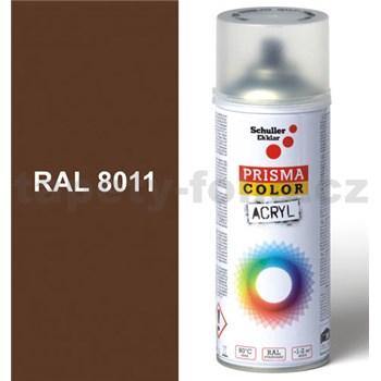 Sprej hnědý lesklý 400ml, odstín RAL 8011 barva ořechově hnědá lesklá