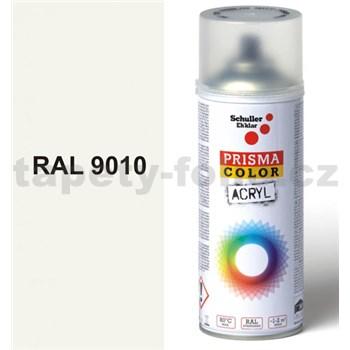 Sprej bílý lesklý 400ml odstín RAL 9010 barva bílá lesklá