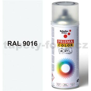 Sprej bílý lesklý 400ml, odstín RAL 9016 barva dopravní bílá lesklá