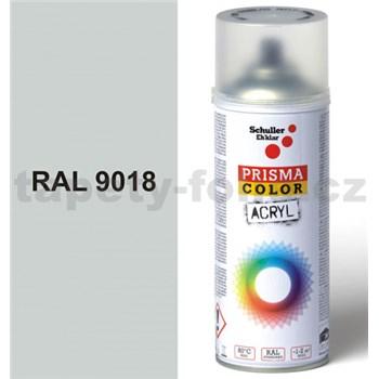 Sprej bílý lesklý 400ml, odstín RAL 9018 barva papyrově bílá lesklá