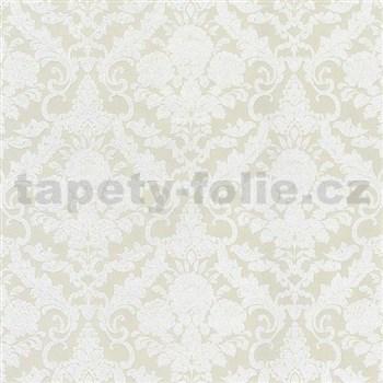 Vliesové tapety na zeď Hypnose zámecký vzor bílý na krémovém podkladu