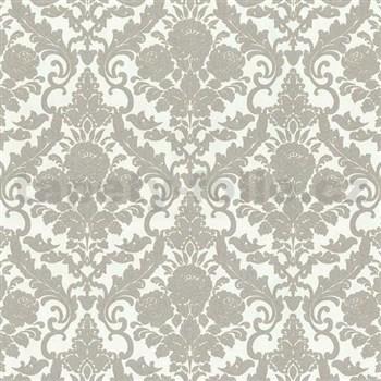 Vliesové tapety na zeď Hypnose zámecký vzor světle hnědý - POSLEDNÍ KUSY