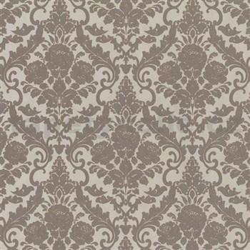 Vliesové tapety na zeď Hypnose zámecký vzor hnědý - POSLEDNÍ KUS