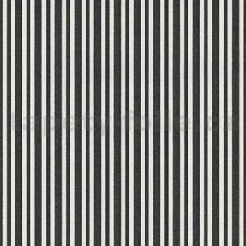 Vliesové tapety na zeď Hypnose pruhy černé