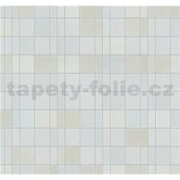Vliesové tapety na zeď Easy Wall obklad kachličky světle hnědo-modré - POSLEDNÍ KUSY