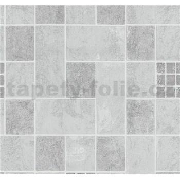 Vliesové tapety na zeď Easy Wall obklad tmavě hnědo-šedý
