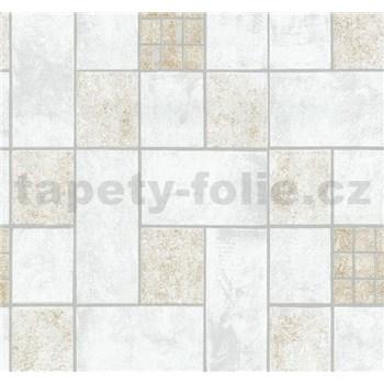Vliesové tapety na zeď Easy Wall obklad hnědo-šedý - POSLEDNÍ KUSY